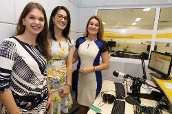 Caroline Mello, Aline D´Eça e a Procuradora Geral de Justiça Ediene Lousado